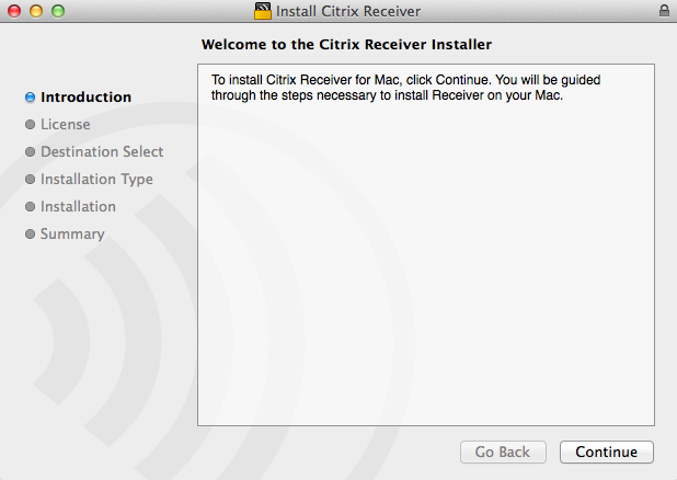 Welcome to the Citrix Receiver Installer image