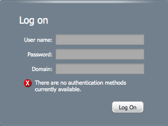 There are no authentication methods currently available image
